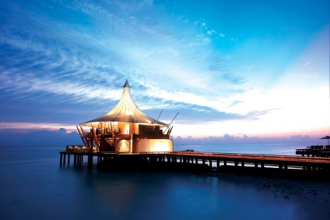 Lighthouse restaurant at Maldives is perfect or a romantic dinner