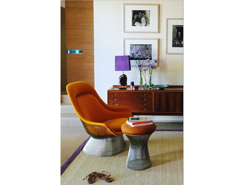 Armchair and sidetable, furniture