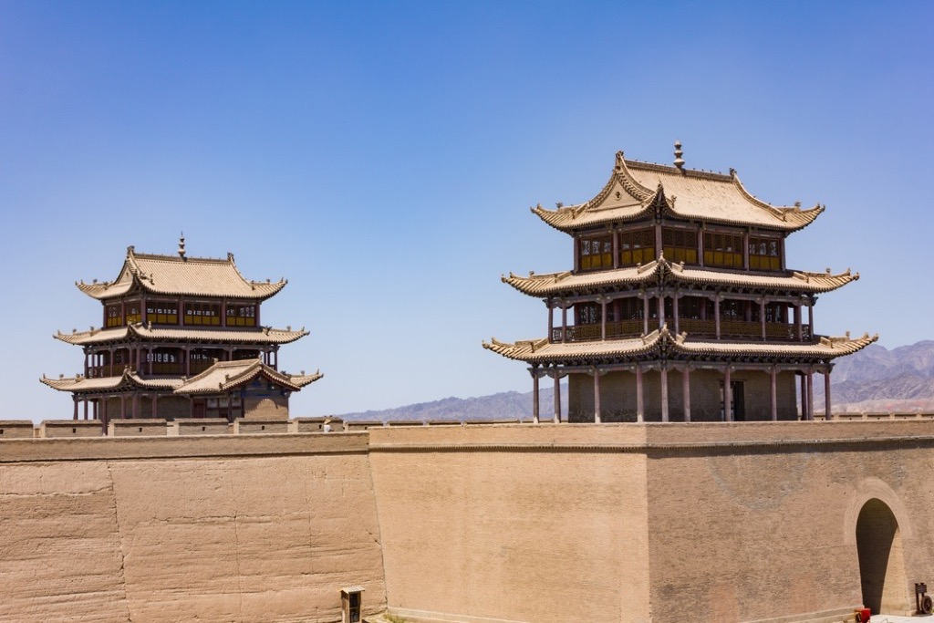 The ancient Jiayuguan Fort on the Silk Road