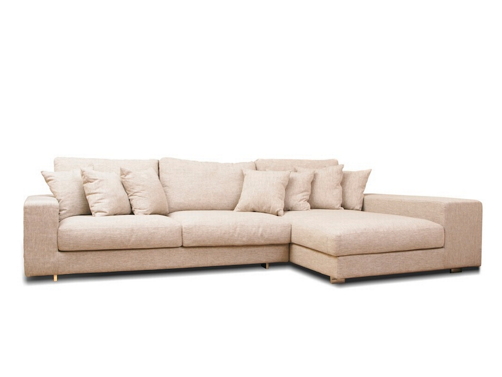 Kagan Feather Down Fabric Sofa L Shape