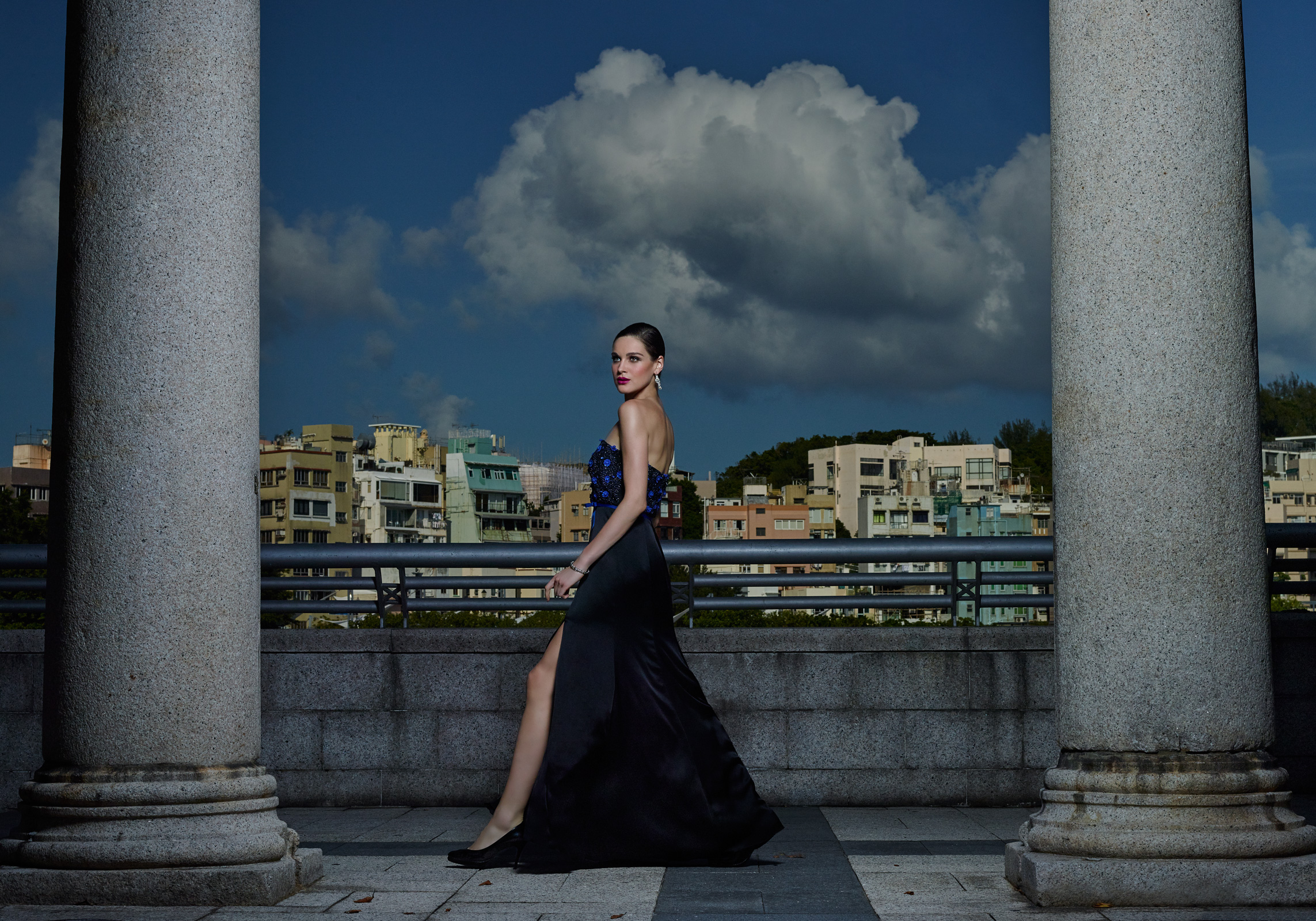 A striking gown by Raashi