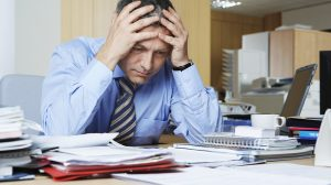 image of stressed man for story on men's health