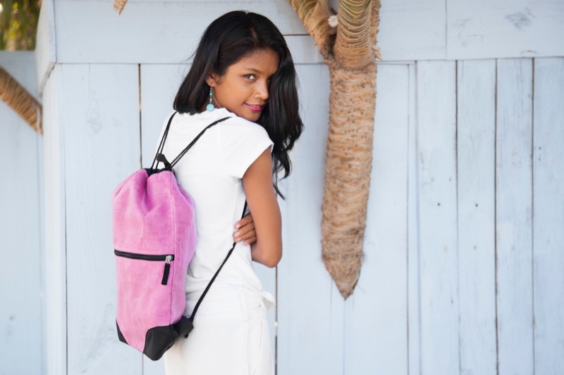 "Backpacks: ""Bags of Good"" drawstring bag from Bumps to Babes"