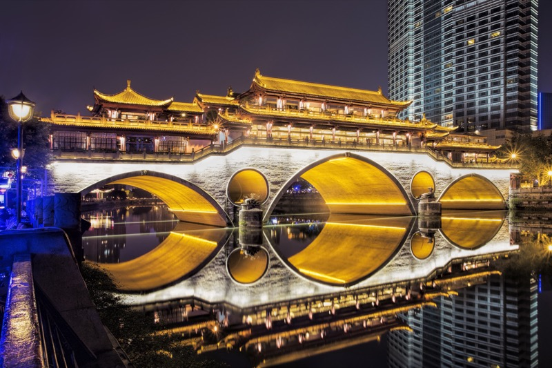 Chengdu: The Anshun Bridge is a stunning sight