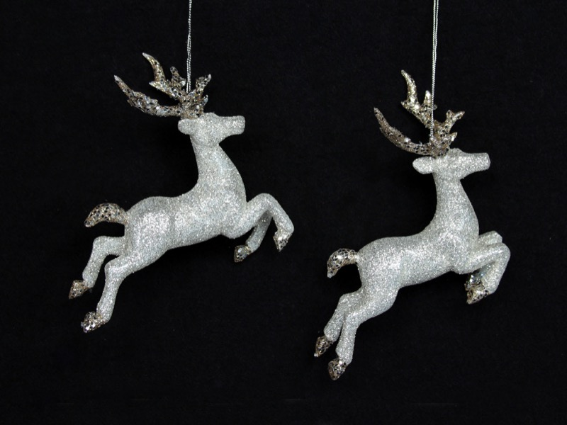 christmas decorations: Gold & silver reindeer, HK$129