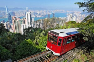 Image of Peak Tram for story on classic Hong Kong experiences